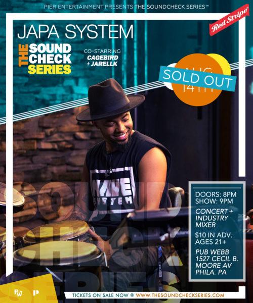 THE SOUNDCHECK SERIES: CAGEBIRD with Japa System & JarellK